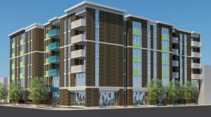 Artist rendering of the Cicero and George Elderly Housing Development. Courtesy Weese Langley Weese.