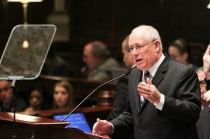 Gov. Pat Quinn during 2014 State of the State address. | PHOTO COURTESY OFFICE OF PAT QUINN