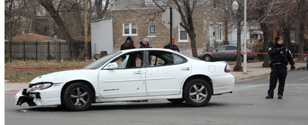 Pontiac at the intersection of St. Louis and Chicago avenues Wednesday afternoon. Photo by Alex V. Hernandez
