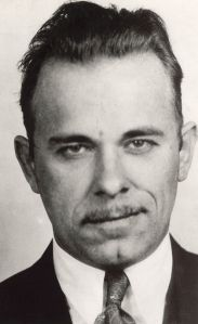 FBI Mug shot of John Dillinger